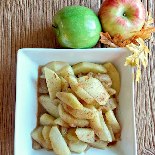 Warm Cinnamon Apples.