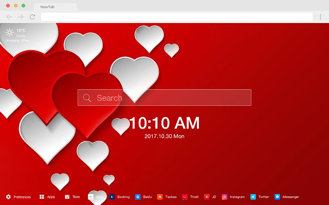 Valentine Love HD New Tab Sweets Theme