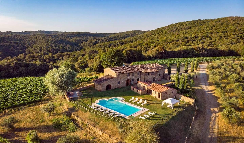 Villa avec jardin et terrasse Rapolano Terme