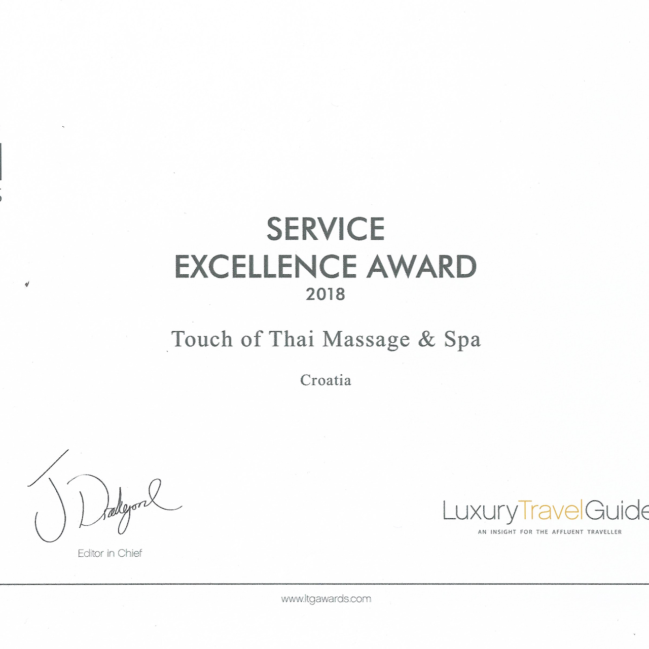 Touch Of Thai Massage Spa - Service Excellence Awards-2300