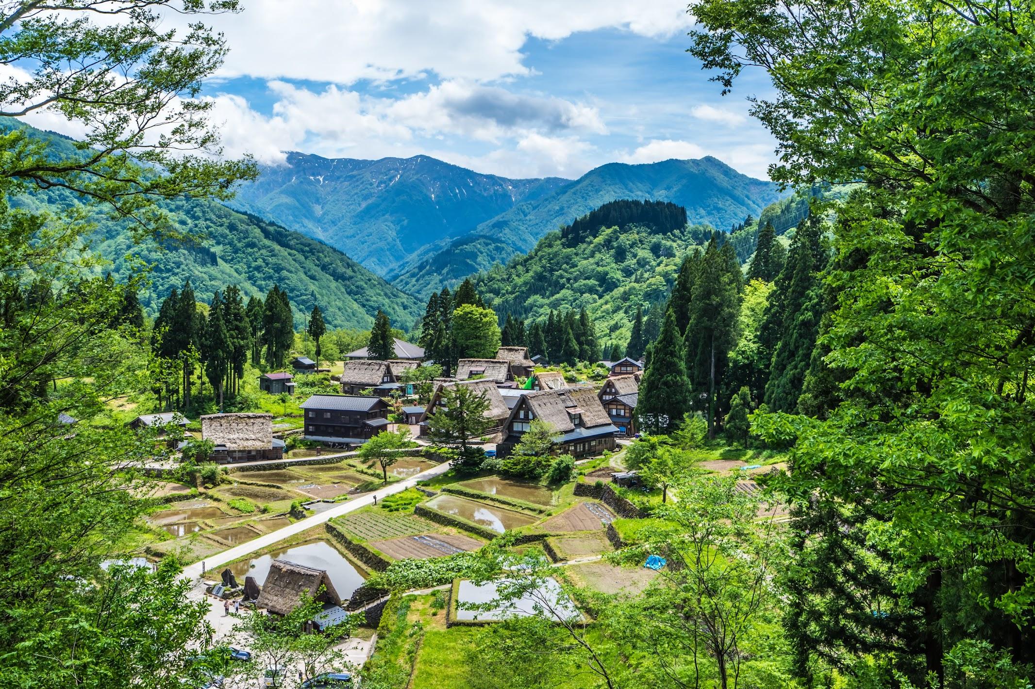 Gokayama Ainokura Gassho-zukuri Village observation deck1