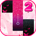 Pink Glitter Piano Tiles Butterfly Icon