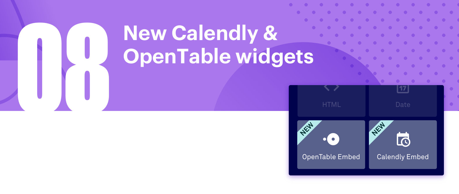 Leadpages launches New Calendly & OpenTable widgets