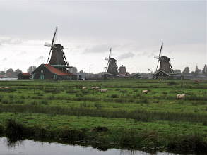 Photo: Zaanse Schans, village of windmills. Those big ones along the water are for milling, like grinding grain and such.