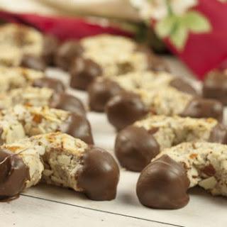 Italian Chocolate-Dipped Almond Horns.