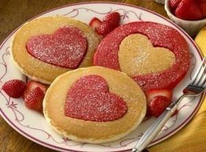 Heart Shaped Pancakes Recipe