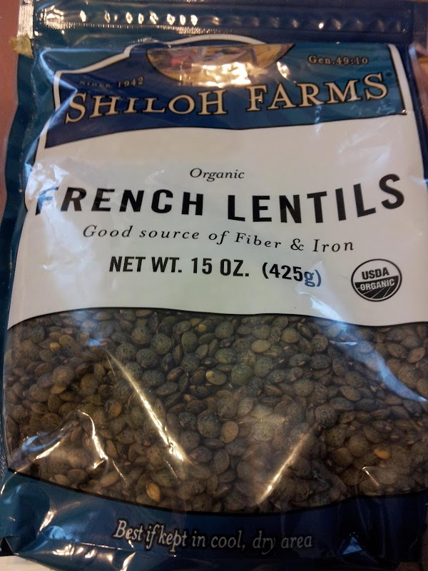 These are French lentils,they are green in color and have a smaller,more oval shape...