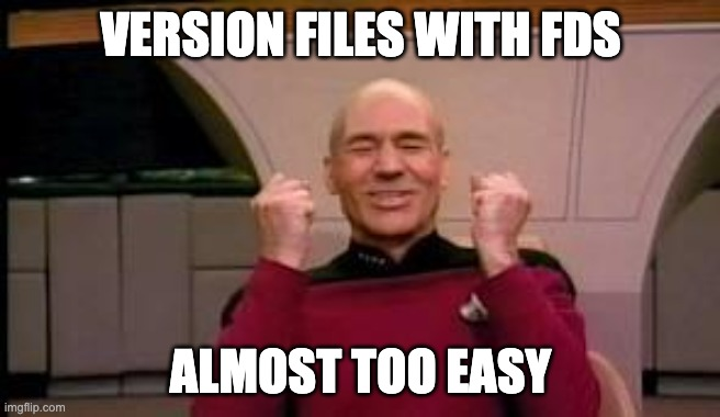 Magical file versioning with FDS