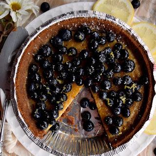 Blueberry Custard Pie.