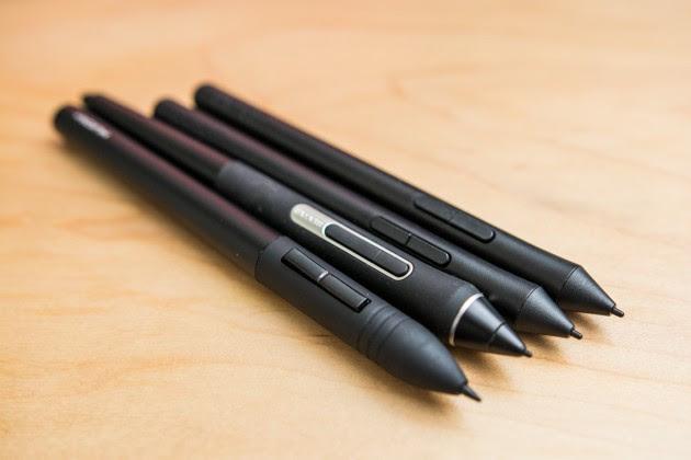 Ручка Intuos S удобна для длительных сеансов рисования