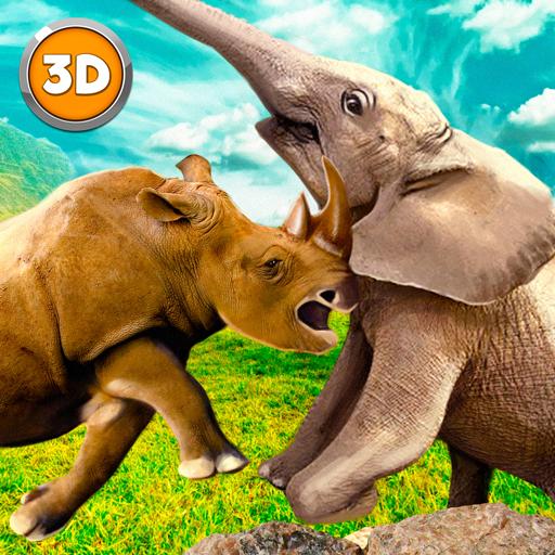 Rhino Fighting Game: Kung Fu Animals Fight