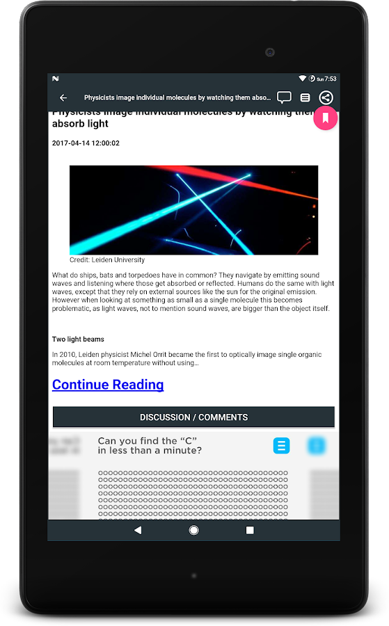 Science News Daily - Fastest Science News App- screenshot