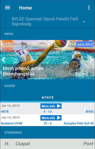 Official App of Hun Water Polo|玩運動App免費|玩APPs