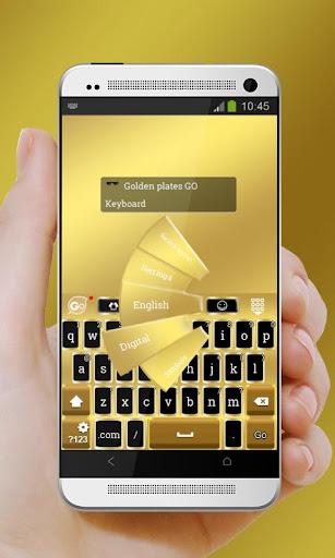 玩個人化App|Golden plates GO Keyboard免費|APP試玩