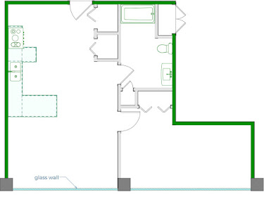 Rooney Floorplan Diagram 825 sq ft