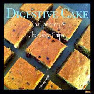Digestive Cake with Cranberry & Chocolate Chips