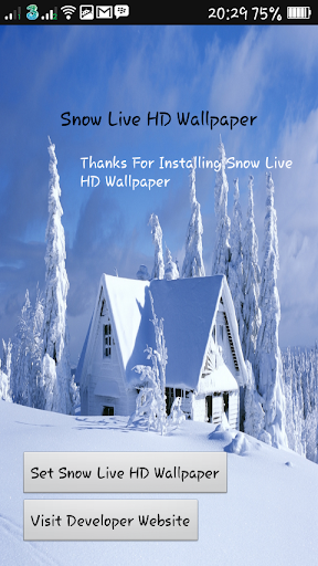 Snow Live HD Wallpaper