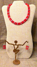 Photo: <BEREHYNYA> {Great Goddess Protectress} unique one-of-a-kind statement jewellery by Luba Bilash ART & ADORNMENT  # 130 PROGENY OF POSEIDON/ПОТОМКИ ПОСЕЙДОНА - coral, silver plate $100/set * Available at Oseredok Boutique, Winnipeg SOLD/ПРОДАНИЙ
