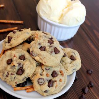 Pretzel & Ice Cream Chocolate Chip Cookies