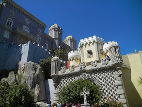 Photo: One of the big attractions in Sintra is the Pena Palace, a crazy place built by one of the royals in the 1800s. The royals lived there until 1889 when it was purchased by the state. It eventually became a national monument.