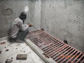 Photo: Ground Floor Skylight being fixed. Builder : Nanak Builders, Mr. Virender Batra