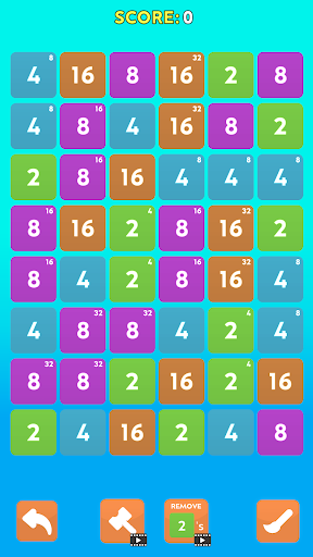 Merge Blast - NO ADS 2048 Puzzle Game android2mod screenshots 6