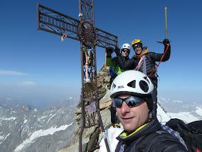 Photo: Le trio au sommet italien. merci Olivier d'avoir menu la cordée