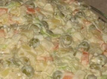 Polish Vegetable Salad (salatka Jarzynowa ) Recipe