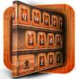 3D Wood Keyboard Theme icon