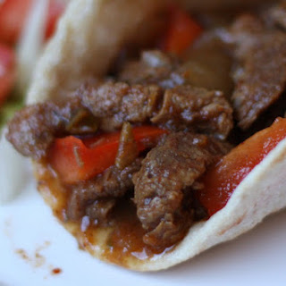 Slow Cooked Chili Steak Fajitas