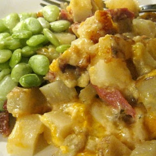 Cheesy Potatoes With Ham