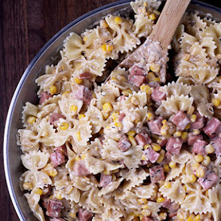 Creamy Ham and Corn Bow Ties