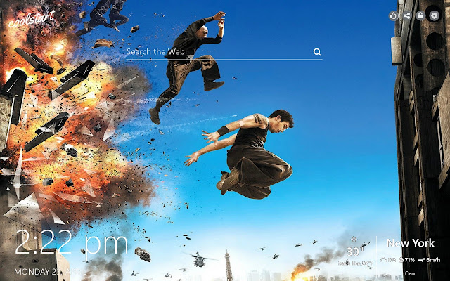 Free Run HD Wallpapers Parkour New Tab Theme
