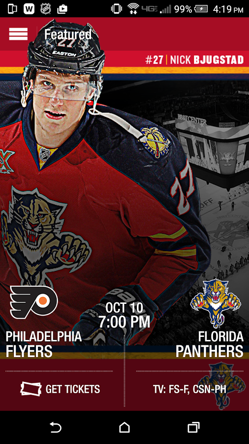 Florida Panthers Official App- screenshot