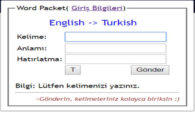 Word Packet Plugin