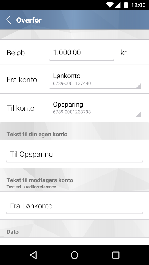 Djurslands Banks MobilBank- screenshot