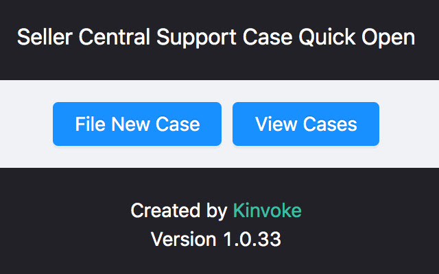 Seller Central Support Case Quick Open