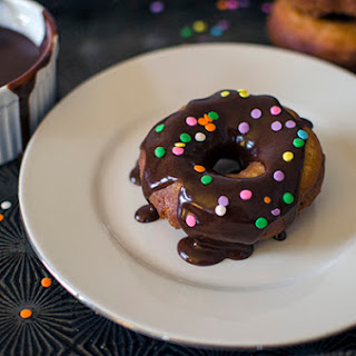 Chocolate Glazed Cake Doughnuts Recipe