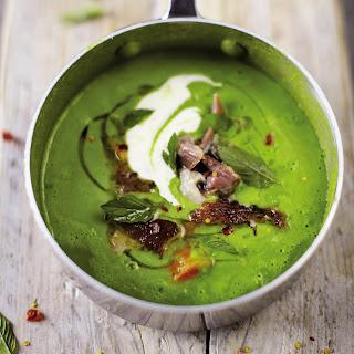 Green Pea and Ham Soup recipe | Epicurious.com.