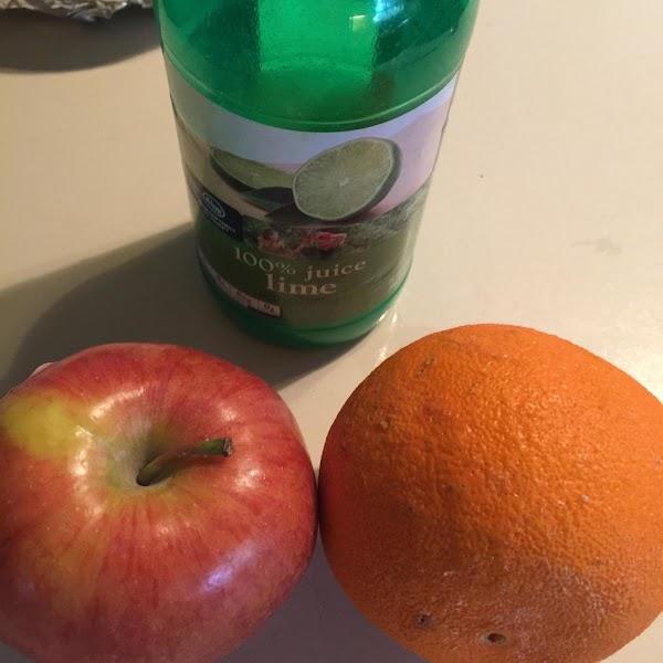 Add pecans, apple, cherries and cranberries. Mix together. Mix in orange juice a dash...