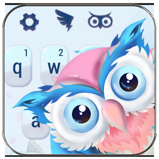 Cute owl animal keyboard