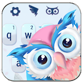 Cute owl animal keyboard