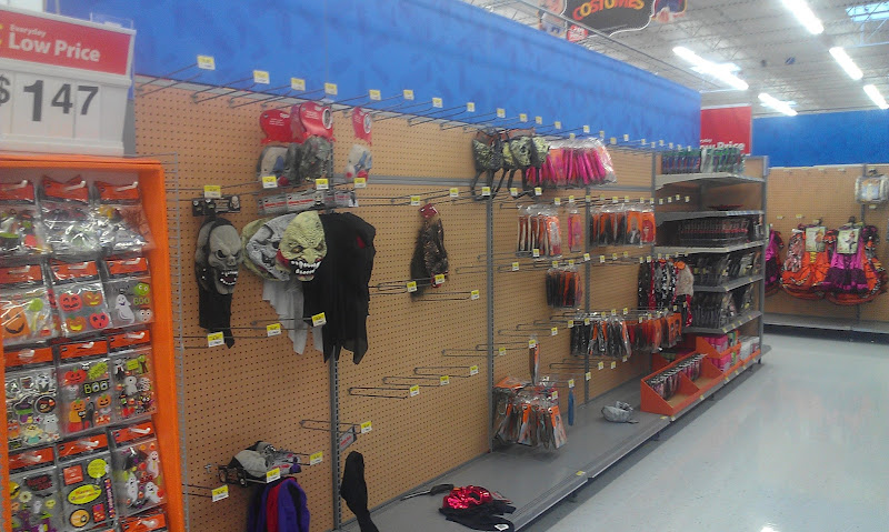 Photo: Speaking of Halloween, the aisles are starting to shape up to look spooky. This is one of my favorite times of year (Fall and Halloween). Funny thought seeing this aisle, by the end of October it will look just like this again. ;)