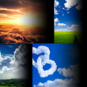 синий обои облака icon