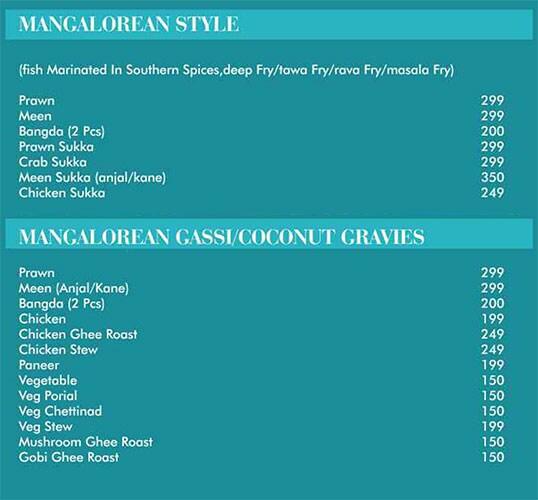 Dakshin Restaurant menu 6