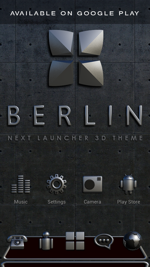 BERLIN Digital Clock Widget- screenshot
