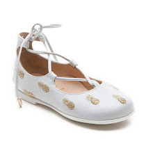 Aquazzura Christy Embroidered Baby PUMP