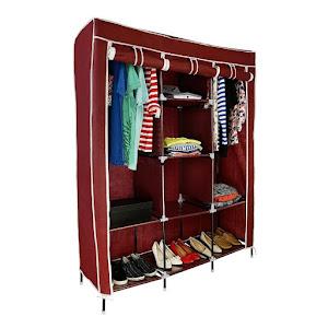Dulap textil pentru haine 135 x 45 x 175 cm