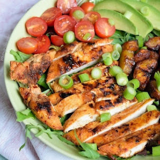 Chicken Plantain Salad with Sweet Paprika Dressing Recipe