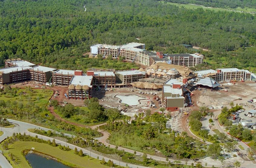 construction of animal kingdom lodge